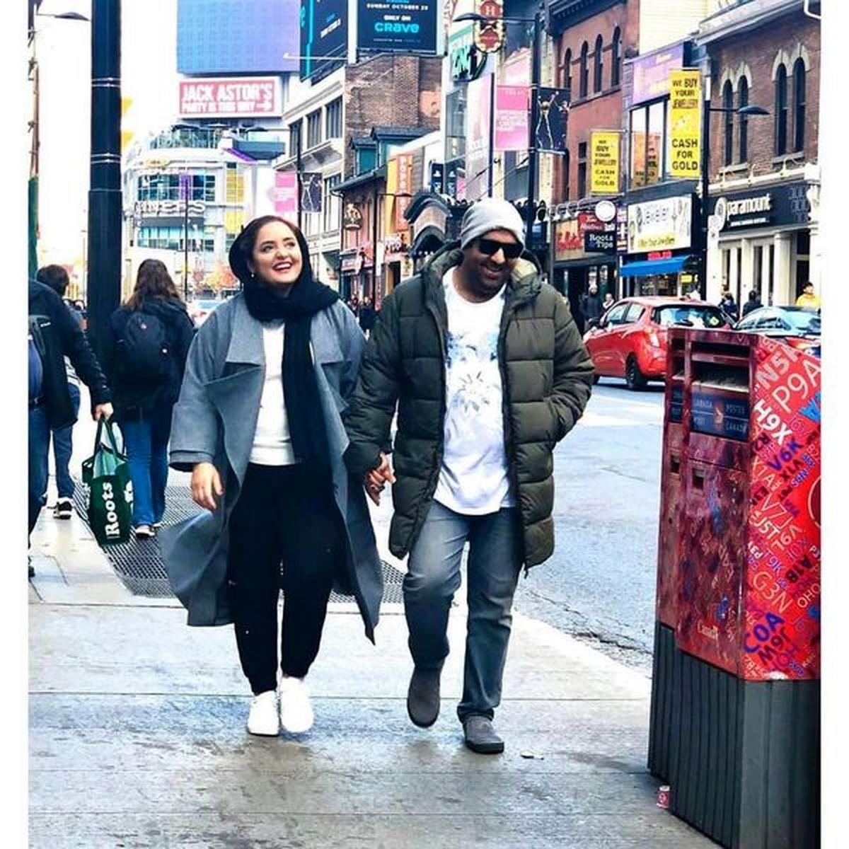 عکسهای جذاب نرگس محمدی و همسرش در خارج